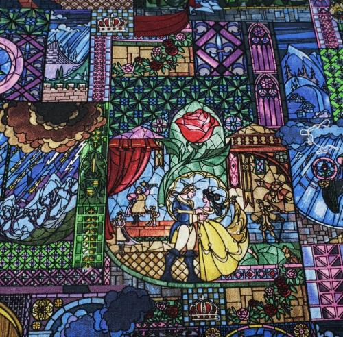 Beauty and the Beast Stained Glass