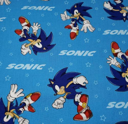 Sonic on Blue
