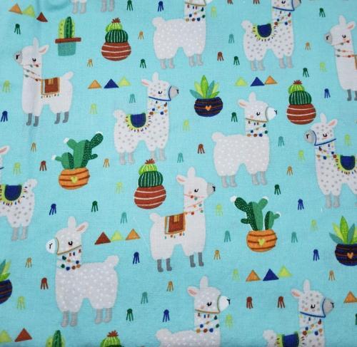Llamas on Aqua