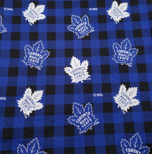 Maple Leafs on Plaid